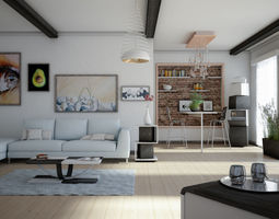 3D model House Milan Wood