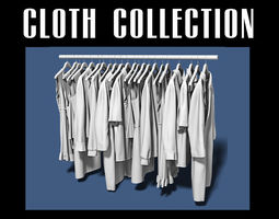 Cloth collection 04 3D model