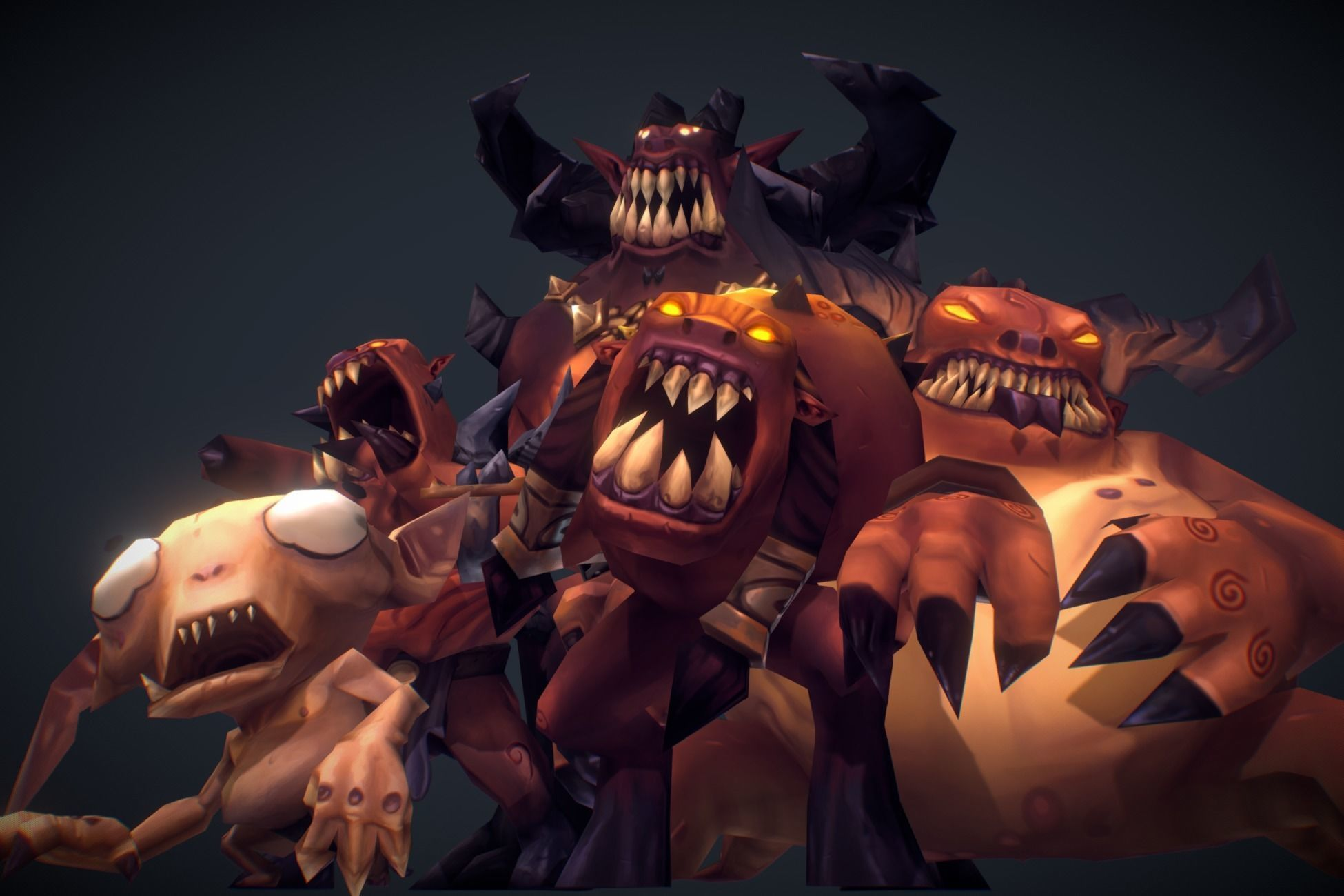 Demon Crew - Low Poly Hand Painted