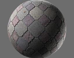 3D model Weathered concrete pavement