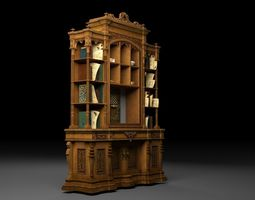 Classic deluxe cabinet 3D model VR / AR ready
