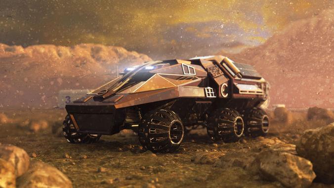 mars rover nasa prototype 3d model max obj mtl fbx 1