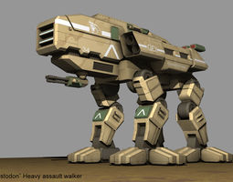 AW-12 Mastodon GDI Heavy assault 3D model