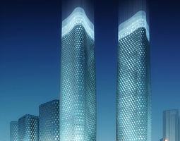 skyscraper city scene 004 3d model
