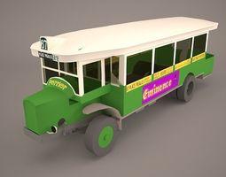 3D model Vintage City Bus