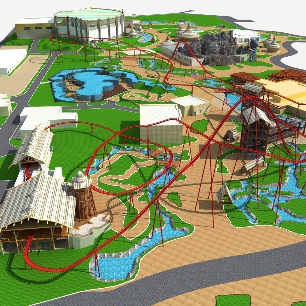 Amusement Park 3d Model Max 1