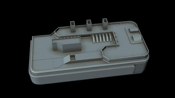 starship part 31 3d model max 3ds 1