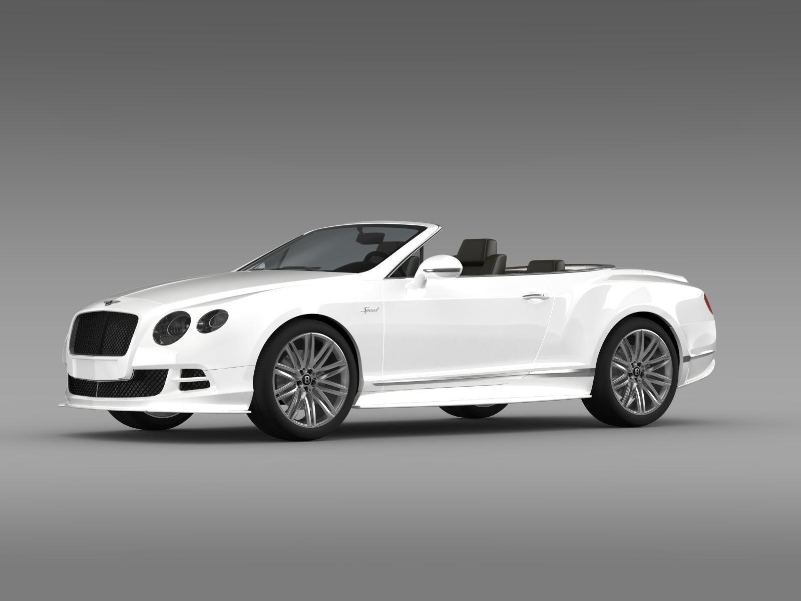 Bentley Continental GT Speed Convertible 2014 3D model MAX OBJ 3DS ...
