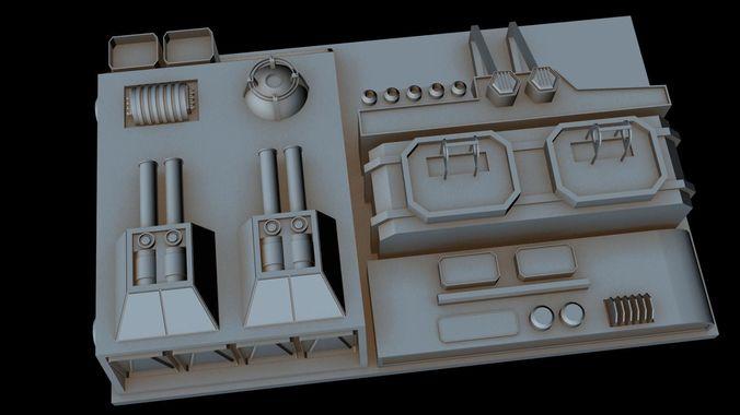 starship part 34 3d model max 3ds 1