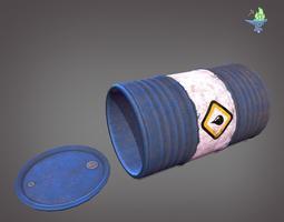 Oil Barrel 3D asset game-ready