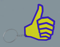 Thumbs Up Keychain 3D printable model