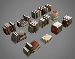 old books pack 001 collection 3D asset