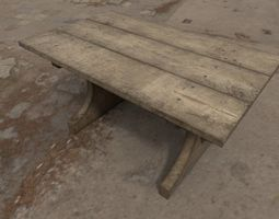 3D Medieval Wooden Table