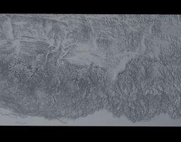 Himalaya Mountains Mount Everest Area Untextured 3D