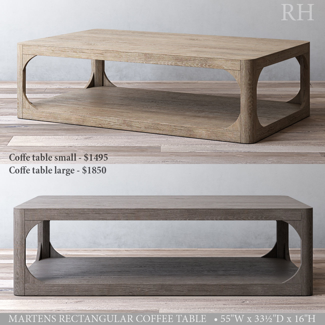 Ordinaire Rh Martens Rectangular Coffee Table 3d Model Max Obj Mtl 3ds Fbx Mat 1 ...