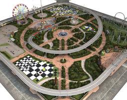 Amusement Park 3D asset