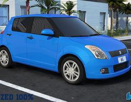 Maruti Swift Optimized Car 3D asset