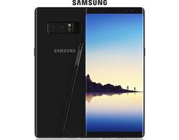 Samsung Galaxy Note 8 Midnight Black electronics 3D model