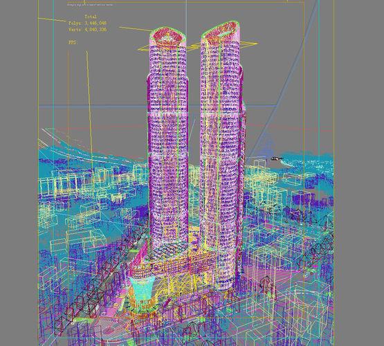 city scene 017 3d model max 4