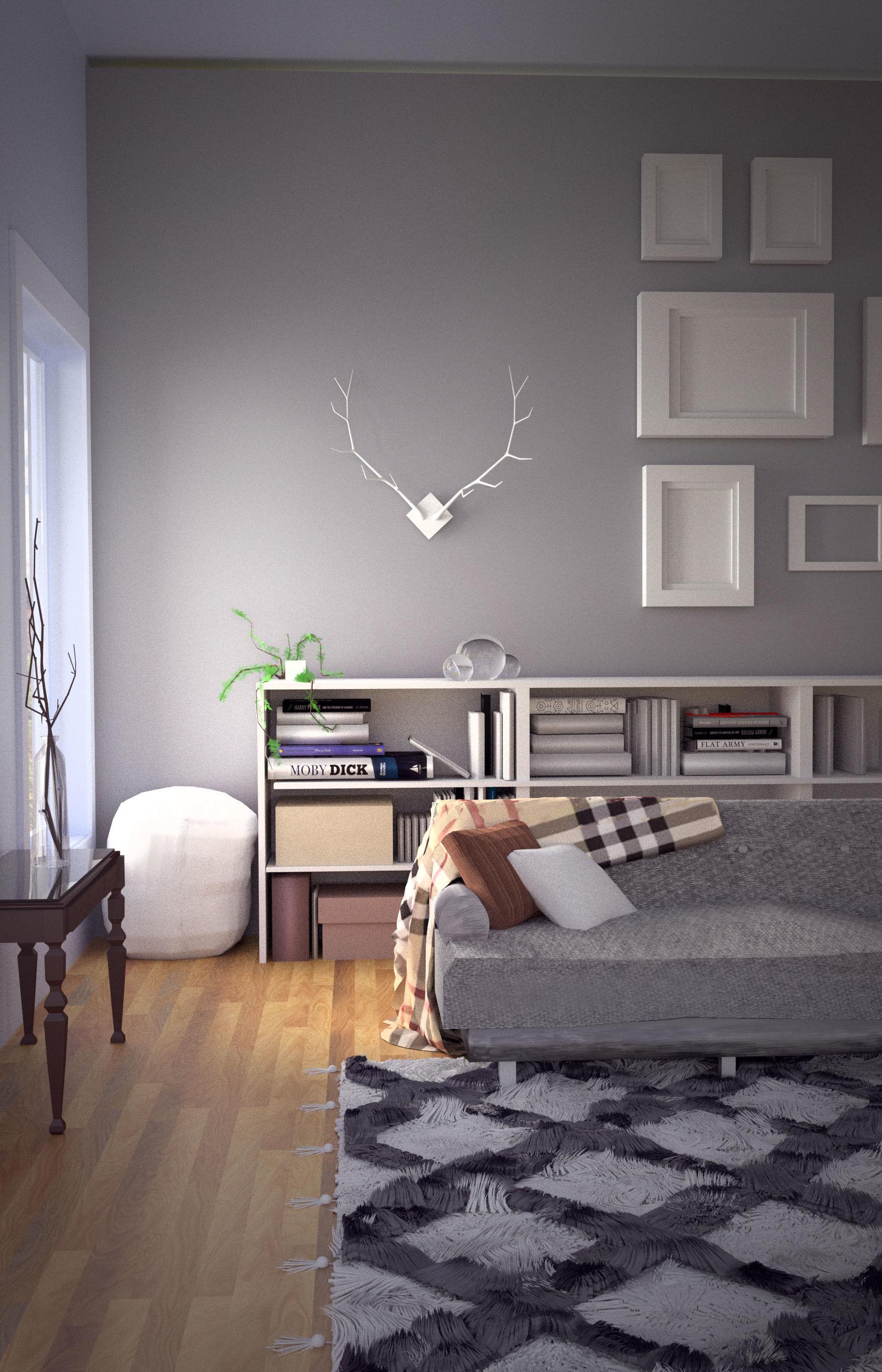 3d Room Interior Design: Fall Modern Interior Design Set 3D Model