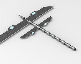 3D asset Axe Sword xs