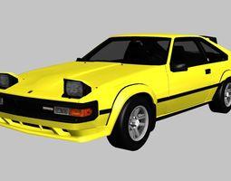 3D asset Toyota Celica Supra 1984