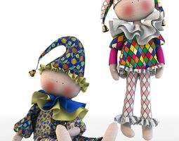 clothing 3D model Girl dress t shirt skirt Baby clothes