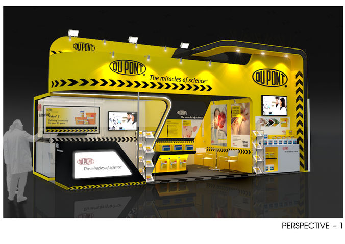 booth design dupont size 8 x 4m 32sqm 3d model max 3ds dwg 1