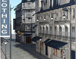 European Street for DAZ Studio 3D model