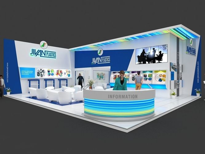 Exhibition Stall Vector Free Download : Exhibition stall d model mtr sides open plastics