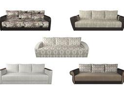 3D Set of 5 sofas SAN-MARINO