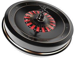 luck animated 3D Roulette Model