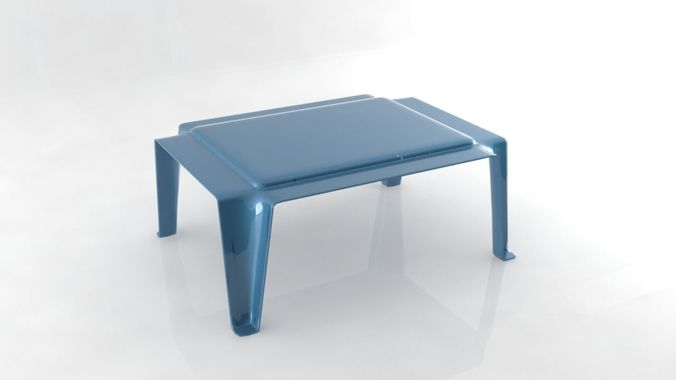 Lovely Plastic Table Simple Stool Free VR / AR / Low Poly 3D Model