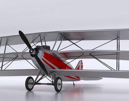 3D asset classic aroplane aircraft