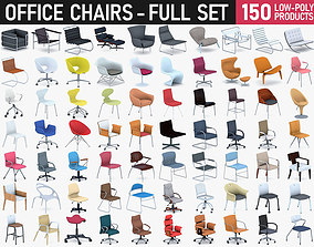 3D asset Office Chairs Collection - Full Set
