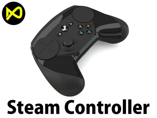 steam controller 3d model max obj 3ds fbx c4d lwo lw lws 1
