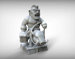 3D print model Hog Rider Clash of Clans
