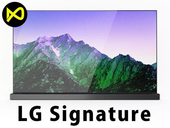lglg signature 4k tv oled 65 inch 3d model max obj mtl 3ds fbx c4d lwo lw lws 1