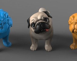 Question Pug 3D printable model