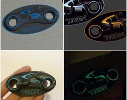 Tron Dual Extrusion Light cycle Keyring 3D printable model