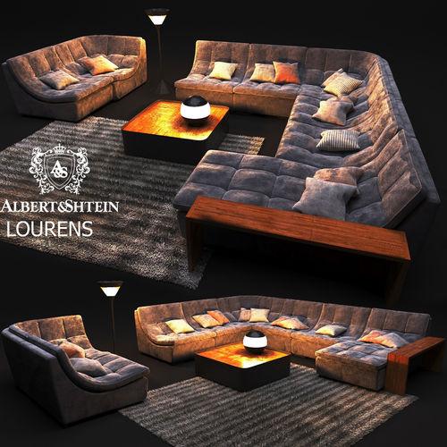 elegant sofa albert shtein lourens 3d model max obj mtl 1