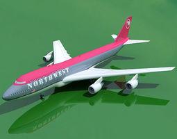 3D model Boeing 747 North West V1