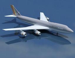 3D model Boeing 747 Asiana