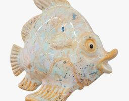 3D Ceramic Fish Figurine