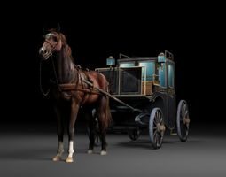 VR / AR ready Classic luxury carriage 3D model