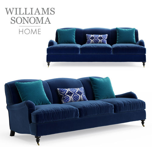 3d Model Williams Sonoma Bedford Sofa 87 Inches Cgtrader