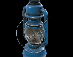 3D model Low Poly PBR Game Ready Storm Lantern