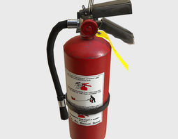 3D asset Low Poly PBR Game Ready Fire Extinguisher