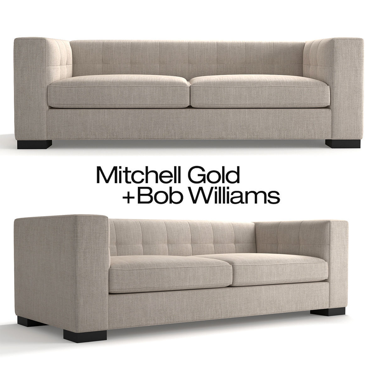Stupendous Mitchell Gold Bronson Sofa 3D Model Gmtry Best Dining Table And Chair Ideas Images Gmtryco