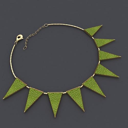 triangle necklace 3d model obj ma mb mtl 1